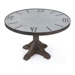 Go Home Ltd - Go Home Ltd Round Clock Dining Table X-43681 - Go Home Ltd Round Clock Dining Table X-43681