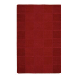 "Nourison - Nourison Westport WP31 2'6"" x 4' Red Area Rug 00235 - This stunning area rug is anything but monotone...the stylish box effect adds gorgeous texture and brings a warm glow to the rich red tones. A deceptively simple approach to floor covering that brings classic elegance to the room."