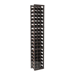 3 Column Standard Cellar Kit in Pine with Black Stain + Satin Finish - Each wine cellar rack meets Wine Racks America's unparalleled fabrication standards. Modular engineering provides universal kit compatibility which enables connoisseurs to mix and match wine rack kits until you achieve a personally-defined wine bottle storage system.
