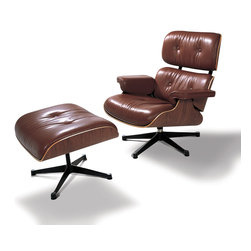 Eames Lounge leather reprouction - Inspired in the Eames Lounge Chair and ottoman by Charles and Ray Eames.