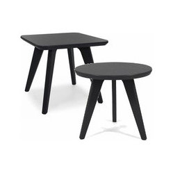 Loll Designs | Satellite 18-Inch End Tables, Round + Square