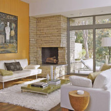 Fireplace Designs: Ideas for Your Stone Fireplace: Inside-Outside Fireplace