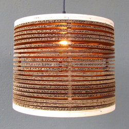 "18"" corrugated pendant - please e-mail us at info@redinfred.com for more information + purchasing availability"