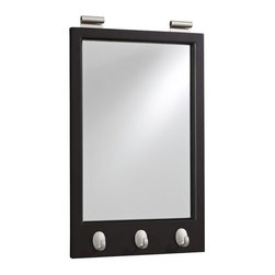Daily System Framed Mirror with Hooks, Black - This mirror is a bit more modern, but it's still versatile. You can also hang it on a rod so that it slides back and forth, similar to curtains.