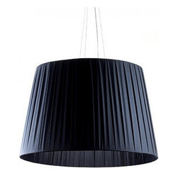 """Dix Heures Dix - Dix Heures Dix Neo + pendant light - The Neo + pendant light by  Dix Heures Dix has been designed by Fabrice Berrux. This suspension mounted  luminaire is perfect for incandescent or compact fluorescent lighting. This  fixture is composed of double pleated fabric available in: ivory, green, clementine, red, purple, grey, black. A premium metal canopy along with quality suspension cables also make up this light. The Neo + presents a clean and elegant look while effortlessly providing beautiful and precise illumination.Two sizes available, adjustable height. CE listed.  Product  description: The Neo + pendant light by  Dix Heures Dix has been designed by Fabrice Berrux. This suspension mounted  luminaire is perfect for incandescent or compact fluorescent lighting. This  fixture is composed of double pleated fabric available in: ivory, green, clementine, red, purple, grey, black. A premium metal canopy along with quality suspension cables also make up this light. The Neo + presents a clean and elegant look while effortlessly providing beautiful and precise illumination.Two sizes available, adjustable height. CE listed. Details:                         Manufacturer:            Dix Heures Dix                                    Designer:                         Fabrice Berrux                                         Made  in:            France                            Dimensions:                        Small: Overall Height: Max 78.7"""" (200 cm) X Shade Height: 18.9"""" (48 cm) Shade Diameter: 27.6"""" (70 cm)              Large: Overall Height: Max 78.7"""" (200 cm) X Shade Height: 23.6"""" (60 cm) Shade Diameter: 35.4"""" (90 cm)                                          Light  bulb::            Small: 1 X 150W incandescent or 1 X 23W compact fluorescent                          Large: 5 X 75W incandescent or 5 X 23W compact fluorescent                            Material:            Pleated Fabric, Premium Metals"""