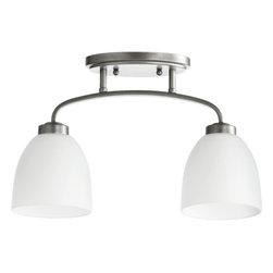 Quorum International - Quorum International 3260-2 Reyes 2 Light Semi-Flush Ceiling Fixture - Features: