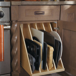 Dynasty Tray Divider Pullout - This pullout includes four sections that are perfect for storing all of your oversized items, such as cookie sheets or baking pans.