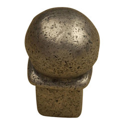 """Anne At Home - Une Grande Knob - 1 1/8"""" (Set of 10) (Copper Bronze) - Finish: Copper Bronze. Hand cast and finished. Made in the USA. Pewter with brass insert. Collection: Une Grande. 1 in. L x 1 in. W x 1.75 in. H"""