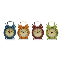 "IMAX CORPORATION - Corblin Desk Clocks - Set of 4 - Set of four desktop clocks in bright, vivid colors. Batteries not included. Comes in various sizes measuring around 20""L x 5""W x 5""H each. Shop home furnishings, decor, and accessories from Posh Urban Furnishings. Beautiful, stylish furniture and decor that will brighten your home instantly. Shop modern, traditional, vintage, and world designs."