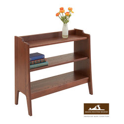 Green Mountain Underwindow Bookshelf by Manchester Wood - This solid wood bookcase was designed to provide the most storage in the smallest amount of space. It features an adjustable shelf for customized storage. The open shelving is perfect for keeping books, periodicals, or other items for daily life in easy access. Crafted from sustainable hardwood, it's built to last.