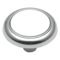 Belwith / Hickory - Belwith Hickory 1-1/4 In. Eclipse Chrome Cabinet Knob P710-CH Hardware - Bridges contemporary and traditional design.  Offering a deep rooted sense of history in some, with an updated feel and cleaner lines.  Crate & Barrel and Pottery Barn could be considered transitional looks.. Product Name: 1-1/4 In. Eclipse Chrome Cabinet KnobFinished: Chrome FinishIncluded: Mounting Hardware IncludedSize . Type: DiameterScrew Center to Center in Inches: Diamter: 1.25Diamension Length in Inches: 1.25Diamension Width Inches: 1.25Diamension Height Inches: 0.9Weight in OZ: 0.8Product . Type: KnobsStyle: TransitionalFinish Name: ChromeAppearance . Finish: Reflective (Mirror)Color Palette: Silvers/GreysBasic Shape: Geometric/Angular