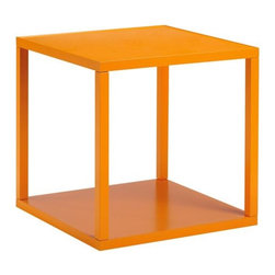 Loft Stacking Cube, Orange - I like this orange table because it's a practical and functional piece of furniture that packs a lot of punch. It would look great alongside a couch or as a bedside table.