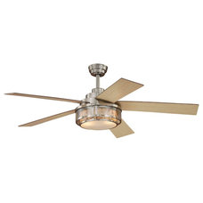 "Traditional Ceiling Fans Chesapeake Satin Nickel 52"" Ceiling Fan"