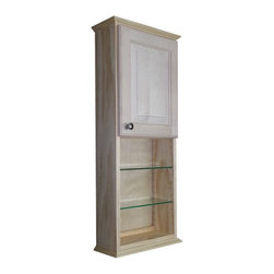 WG Wood Products - 42-inch 18-inch open shelf 5.5-inch deep inside Ashley Series On the Wall Cabine - This on the wall cabinet is a great way to decorate or improve storage in a living space. With nearly 5.5-deep inches of space inside the cabinet, this cabinet with its natural pine finish can be painted or stained to whatever color or style you want.
