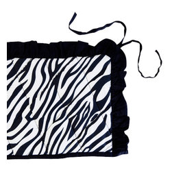 Sin in Linen - Zebra Crib Bumper - Your little animal will go wild for this zebra baby bedding!