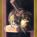 """Gerrit Dou-18""""x24"""" Framed Canvas - 18"""" x 24"""" Gerrit Dou Still Life with Book and Purse framed premium canvas print reproduced to meet museum quality standards. Our museum quality canvas prints are produced using high-precision print technology for a more accurate reproduction printed on high quality canvas with fade-resistant, archival inks. Our progressive business model allows us to offer works of art to you at the best wholesale pricing, significantly less than art gallery prices, affordable to all. This artwork is hand stretched onto wooden stretcher bars, then mounted into our 3"""" wide gold finish frame with black panel by one of our expert framers. Our framed canvas print comes with hardware, ready to hang on your wall.  We present a comprehensive collection of exceptional canvas art reproductions by Gerrit Dou."""
