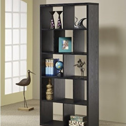 Zac Modern Wood Bookcase and Display Stand