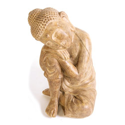 None - Kelkay Stonetouch Sleeping Buddha Decorative Accent - Exclusively designed from Kelkay Collectable, this classic Stonetouch Sleeping Buddha will bring oriental charm to your indoor or outdoor area.