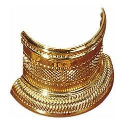 Richelieu Hardware - Richelieu Traditional Brass Half Ring 40mm Polished Brass - Richelieu Traditional Brass Half Ring 40mm Polished Brass