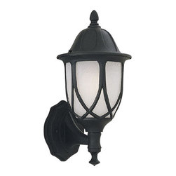 """Designers Fountain - Designers Fountain 2867-BK 1 Light 6.5"""" Cast Aluminum Wall Lantern from the Cape - Features:"""