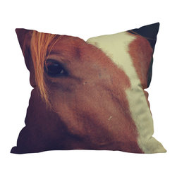 DENY Designs - Allyson Johnson Horse Sense 2 Outdoor Throw Pillow, 20x20x6 - Do you hear that noise? It's your outdoor area begging for a facelift and what better way to turn up the chic than with our outdoor throw pillow collection? Made from water and mildew proof woven polyester, our indoor/outdoor throw pillow is the perfect way to add some vibrance and character to your boring outdoor furniture while giving the rain a run for It's money.