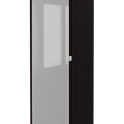 IKEA of Sweden - PAX Wardrobe with 1 door - Wardrobe with 1 door, black-brown, Fevik black-brown