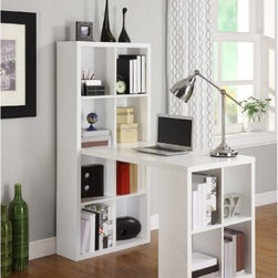 Altra Furniture Hollow Core Hobby Desk, White - For the ultimate in storage space and organization, check out this desk that comes with 12 cubbies. Kids will have plenty of space to store all of their craft supplies, books, toys and more.