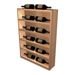 Wine Cellar Innovations - Vertical Wine Display Cabinet (Prime Mahogany - Midnight Black Stain) - Choose Wood Type and Stain: Prime Mahogany - Midnight Black Stain. Bottle capacity: 12. Six shelves. Beveled ends and rounded edges. Labels are safe from tearing. Full wine bottle depth coverage at 13.5 deep. 25.38 in. W x 6.19 in. D x 35 in. H (40 lbs.). Designer collection. Made in USA. No assembly required. WarrantyThe Vertical Display provides the perfect showcase for the jewels of your collection. The units are designed to finish off the end of a waterfall wine rack creating a continuous display of your finest wines. The Vertical Display can also be utilized for those shallow spots where there is not enough room for a standard depth wine rack.