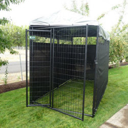 Jewett-Cameron Companies - Premium Heavy Duty Kennel, 6'H x 5'W x 10'L - The AKC Welded Wire Kennel delivers the highest quality, performance, and appeal compared to other leading dog kennels. You get access to the highest quality kennels, and your pets get a comfortable and safe environment.
