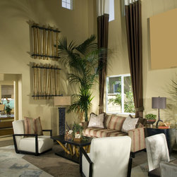 LIVING ROOM Custom Curtains, Drapes, Side Panels - Design your own custom curtains, drapes or side panels for your living room with your choice of over 2000 distinctive fabrics, modern styles, and multiple options.