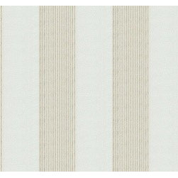 Simple as a Slipcover - The stripe fabric Mesh Lines in Cream.