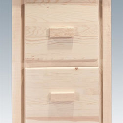 Montana Woodworks - 2-Drawer File Cabinet - Handcrafted. Rustic timber frame design. Heirloom quality. Edge-glued laminated panels. Letter sized drawers. Full extension, ball bearing slides for ease of use and longevity. Made from solid U.S. grown wood. Made in USA. No assembly required. 23 in. W x 21 in. D x 31 in. H (60 lbs.). Warranty. Ready to Finish. Use and Care InstructionsSimilar to the four drawer file cabinet, just smaller for a different look, different usage. The perfect addition to any home office or students room.