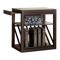 Steve Silver - Jameson Chairside End Table Cherry - The Jameson chairside end table is the perfect addition for a small area with a need for functional and beautiful storage. Use this table to display books, boxes, or decorative additions. Pull-out platforms add marginal space if more room becomes necessary. Choose either the cherry or oak finish!