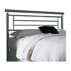 Fashion Bed - Fashion Bed Chatham Metal Headboard in Satin Metal Finish-Full - Fashion Bed - Headboards - B42834 - Sleek contemporary design gives the Chatham Headboard it's style and sophistication. Contrasting lines linear detail and geometric form will make this headboard the perfect addition to any modern or eclectic decor.