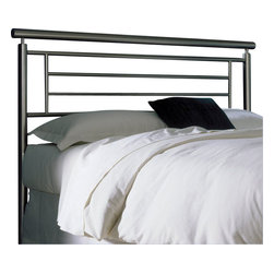 Fashion Bed - Fashion Bed Chatham Metal Headboard in Satin Metal Finish-King - Fashion Bed - Headboards - B42836 - Sleek contemporary design gives the Chatham Headboard it's style and sophistication. Contrasting lines linear detail and geometric form will make this headboard the perfect addition to any modern or eclectic decor.