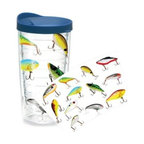 Tervis - Tervis Fish Lures Wrap 16-Ounce Tumbler - Show your dedication to your favorite sport wherever you go. The insulated tumbler with lid keeps hot drinks hot and cold drinks cold, while reducing condensation and helping to prevent water rings on your furniture.