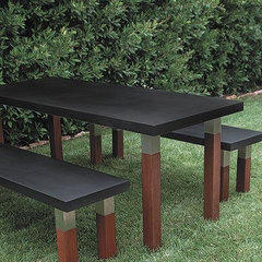 modern outdoor stools and benches by shop.feelmorehuman.com