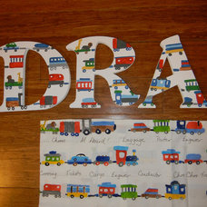 Personalized Hand Painted Children's Wall Letters, M2M Pottery Barn Kids Ryder T