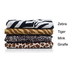 Windsor - Windsor Microfiber Animal Print 4-piece Sheet Set - These microfiber sheets are made from a very light and breathable polyester. Vibrant colors in giraffe,zebra,mink or tiger patterns are available.