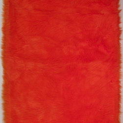 """Fun Rugs - Kids Flokati 3'3""""x4'10"""" Rectangle Orange Area Rug - The Flokati area rug Collection offers an affordable assortment of Kids stylings. Flokati features a blend of natural Orange color. Machine Made of 100% Polyester the Flokati Collection is an intriguing compliment to any decor."""