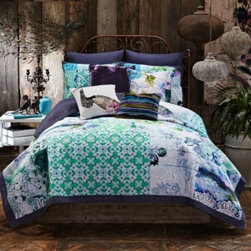 Tracy Porter - Tracy Porter Poetic Wanderlust Rose Boheme Ardienne Pillow Shams - Complement the soothing colors and patterns of Tracy Porter's Ardienne quilt with these pillow shams. They're the perfect way to complement the colorful and lush look of this ensemble.
