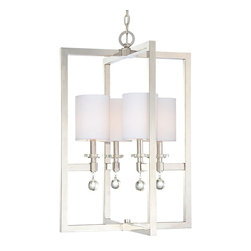 Crystal Drop Frame Hanging Lantern -