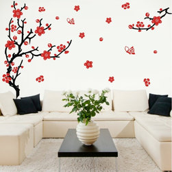 ColorfulHall Co., LTD - Tree Wall Decals DIY Large Plum Tree Home Decoration - Tree Wall Decals DIY Large Plum Tree Home Decoration