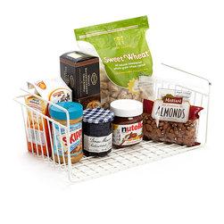 Home It - Under-Shelf Basket - Organize kitchen supplies or bathroom essentials efficiently with this helpful under-shelf basket.   18'' W x 11'' H x 8'' D Metal Imported