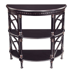 Sterling Industries - Sterling Industries Cheval Demilune Side Table (6041256) - Sterling Industries Cheval Demilune Side Table (6041256)