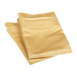 1500 Thread Count Egyptian Cotton Standard Gold Solid Pillowcase Set - 1500 Thread Count oversized Standard Gold Solid Pillowcase Set 100% Egyptian Cotton