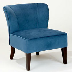 Peacock Quincy Chair - Hello, beautiful blue! Are you ready for a little glamour in your space? The nailhead trim around the outer edges adds such a great touch. It would be a pretty addition to a home office.