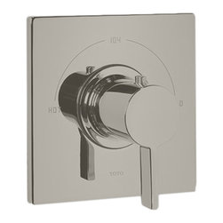 Toto - Toto TS624T Brushed Nickel Legato Thermostatic Mixing Valve Trim - Toto TS624T#BN Legato Thermostatic Mixing Valve Trim with Clean Elegant Contemporary Lines in a Brushed Nickel finish.