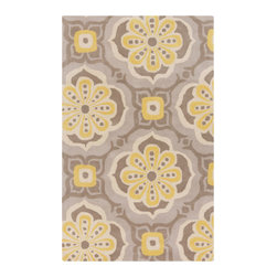 Details in Bloom Area Rug - Add the Details in Bloom Area Rug to your office or any room in your home that could use a pop of color or style. Hand-tufted in India from 100% wool, this reversible plush-pile rug has hand-carved detailing, offering you quality without forsaking personality.