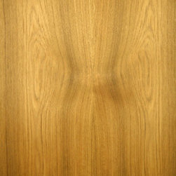 Flat Cut Teak Veneer - Teak veneer can be a light golden color to a medium brown color. Teak is a naturally oily wood and takes wipe on oil finishes best. Available on variety of backers and sizes.